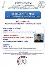 Debreceni HR Klub meghívó 20161208